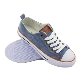 American Club Trampki jeans wiązane niebieskie 3