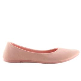 Balerinki damskie mięciutkie różowe pink 6