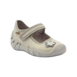 Befado obuwie dziecięce kapcie balerinki 109p163 1