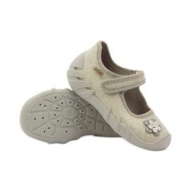 Befado obuwie dziecięce kapcie balerinki 109p163 3