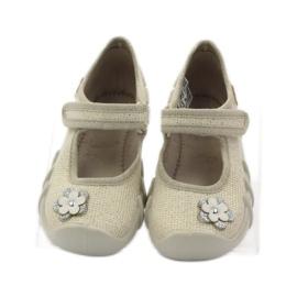 Befado obuwie dziecięce kapcie balerinki 109p163 4