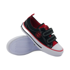 American Club Trampki tenisówki rzepy American czarne/red 3