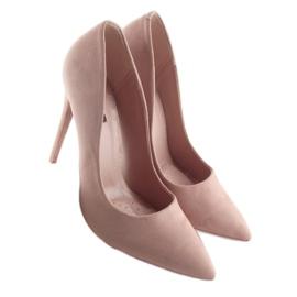 Czółenka na szpilce zamszowe różowe 5101 Pink 2