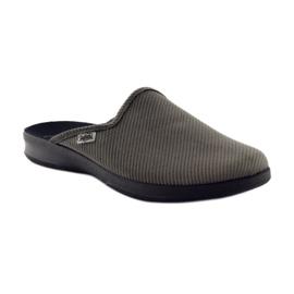 Befado obuwie męskie kapcie klapki 548M008 Szare 1