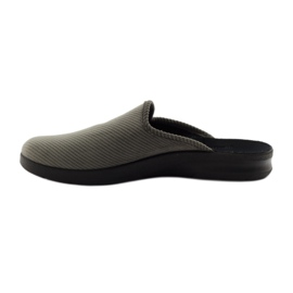 Befado obuwie męskie kapcie klapki 548M008 Szare 2