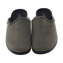 Befado obuwie męskie kapcie klapki 548M008 Szare 4