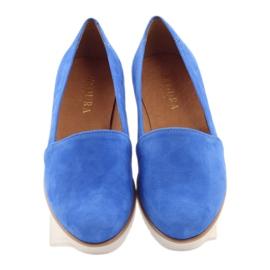 Półbuty damskie Badura niebieskie 4