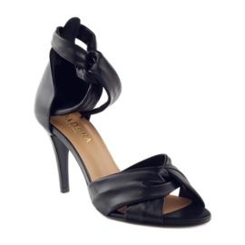 Sandały damskie Badura 4650 czarne 1