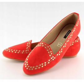 Mokasyny lordsy czerwone 1389 Red 5