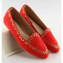 Mokasyny lordsy czerwone 1389 Red 2
