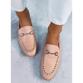 Mokasyny lordsy różowe 1390 Pink 1