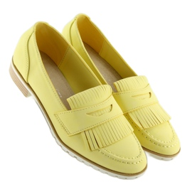 Mokasyny damskie żółte 1174 Yellow 1