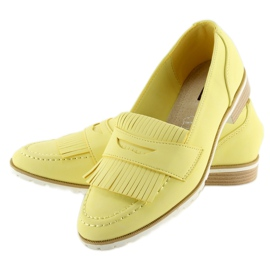 Mokasyny damskie żółte 1174 Yellow 2