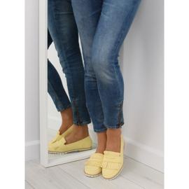 Mokasyny damskie żółte 1174 Yellow 3