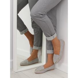 Mokasyny damskie z ćwiekami szare 1388 Grey 3