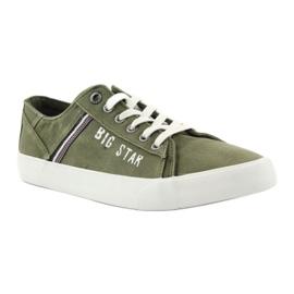 Trampki tenisówki Big star 174315 jeans khaki zielone 1