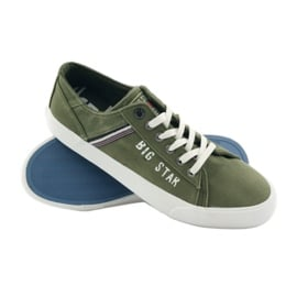 Trampki tenisówki Big star 174315 jeans khaki zielone 3