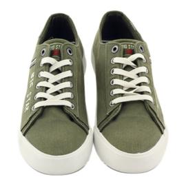Trampki tenisówki Big star 174315 jeans khaki zielone 4