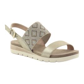 Caprice sandały buty damskie 28604 żółte 1
