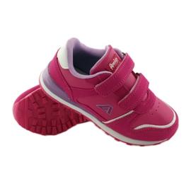 American Club Sportowy jogging American wkładka skórzana różowe 3