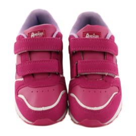 American Club Sportowy jogging American wkładka skórzana różowe 4