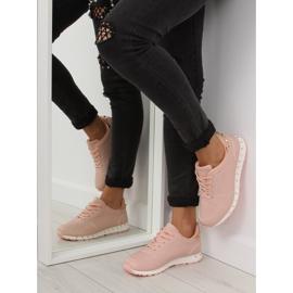 Buty sportowe z ćwiekami różowe BK-85 Pink 2