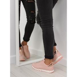 Buty sportowe z ćwiekami różowe BK-85 Pink 4