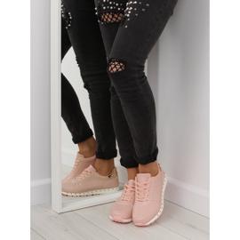 Buty sportowe z ćwiekami różowe BK-85 Pink 3