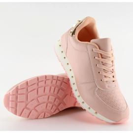 Buty sportowe z ćwiekami różowe BK-85 Pink 5