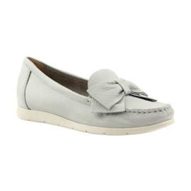 Caprice mokasyny buty damskie szare 1