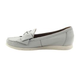 Caprice mokasyny buty damskie szare 2