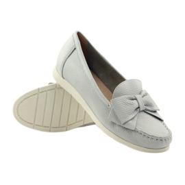 Caprice mokasyny buty damskie szare 3