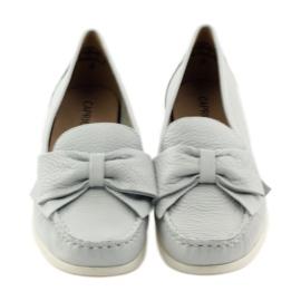 Caprice mokasyny buty damskie szare 4