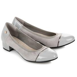 Vices Casualowe buty na niskim obcasie szare 1