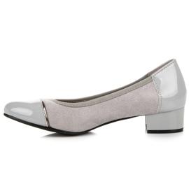 Vices Casualowe buty na niskim obcasie szare 2