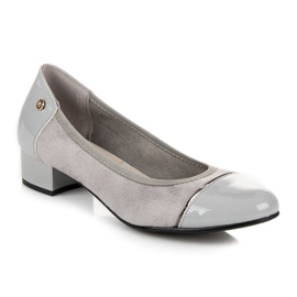 Vices Casualowe buty na niskim obcasie szare 5