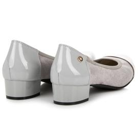 Vices Casualowe buty na niskim obcasie szare 3