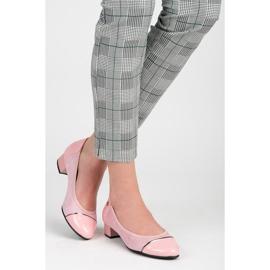 Vices Casualowe buty na niskim obcasie różowe 3