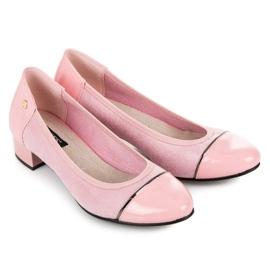 Vices Casualowe buty na niskim obcasie różowe 1