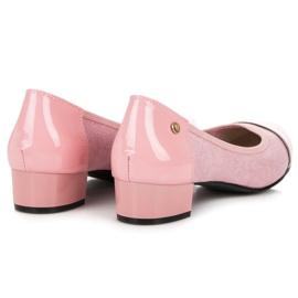 Vices Casualowe buty na niskim obcasie różowe 2