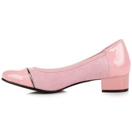 Vices Casualowe buty na niskim obcasie różowe 5