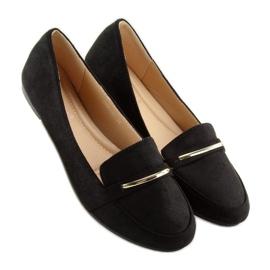 Mokasyny damskie czarne 9988-121 black 3