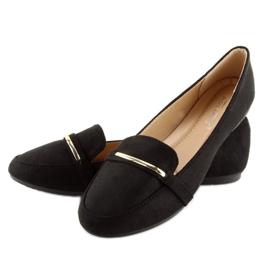 Mokasyny damskie czarne 9988-121 black 1