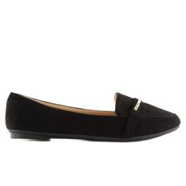 Mokasyny damskie czarne 9988-121 black 2