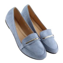 Mokasyny damskie niebieskie 9988-121 denim 4