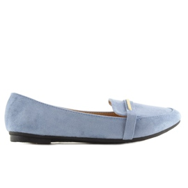 Mokasyny damskie niebieskie 9988-121 denim 2