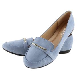 Mokasyny damskie niebieskie 9988-121 denim 5