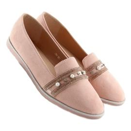Mokasyny lordsy różowe JN-181 Pink 3