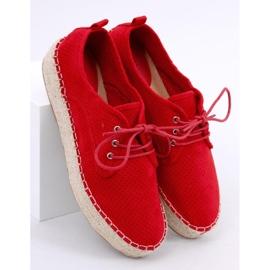 Espadryle damskie czerwone LL-118 Red 2
