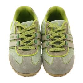 Buty sportowe dziewczęce Sugus 3385 żółte zielone 4